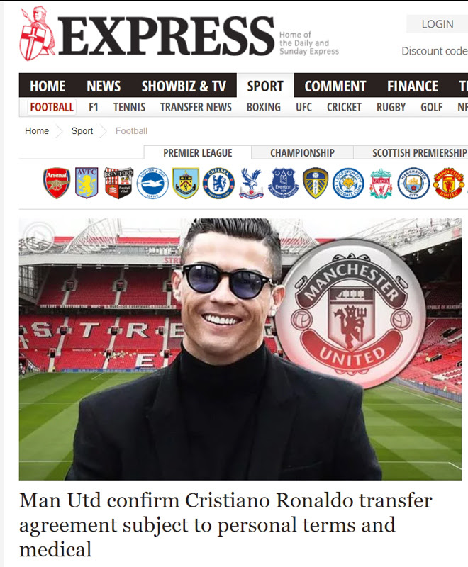 Superstar Ronaldo reunited with MU: The world press was stunned by the twist